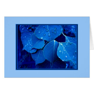Winter leaves card