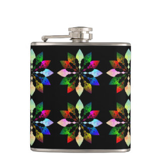 Winter Leaves Hip Flask