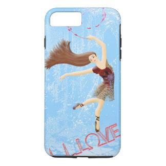 Winter Love, Icy Blue Ballerina Dance iPhone 8 Plus/7 Plus Case