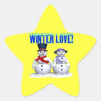 Winter Love Star Sticker