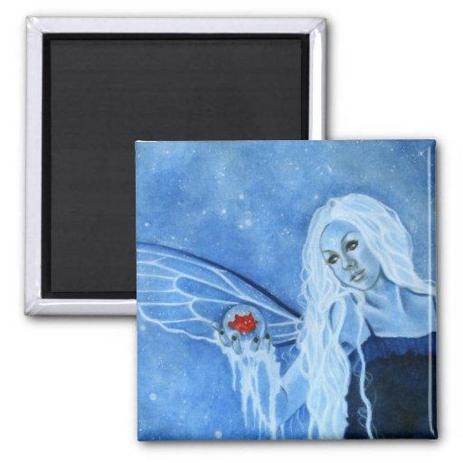 Winter Magic Fairy Magnet