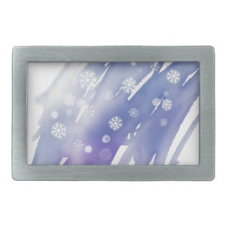 Winter Magic Rectangular Belt Buckles