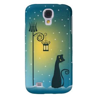 Winter Magical Christmas Cat Samsung Galaxy S4 Case