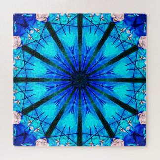 Winter Mandala | Blue Relaxation Jigsaw Puzzle