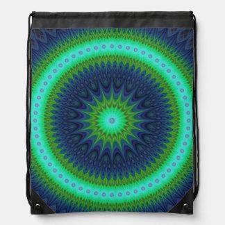 Winter mandala drawstring bag