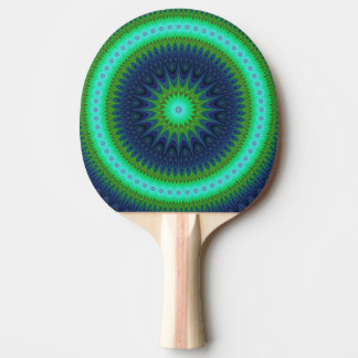 Winter mandala ping pong paddle