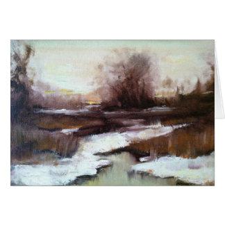 Winter Marsh Note Card