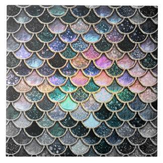 Winter Mermaid Watercolor Scales- Mermaidscales Ceramic Tile