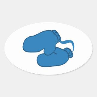 Winter Mitten Oval Sticker