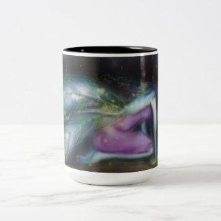 Winter Moon Fairy Black 15oz Two-Tone Coffee Mug