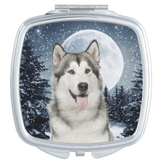 Winter Moon Husky Compact Mirror
