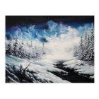 Winter Moon snow scene on customisable products Postcard