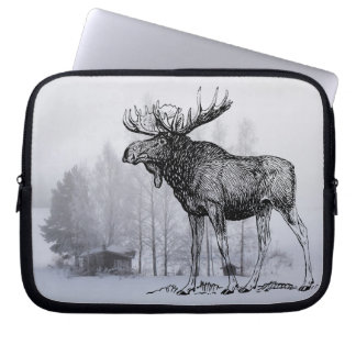 Winter Moose Laptop Sleeve