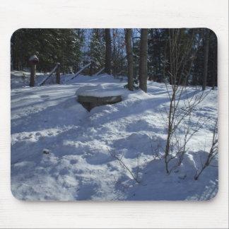 Winter Morning Snow Scene Mouse Pad