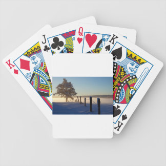 Winter Morning St Joseph Island Bicycle Playing Cards