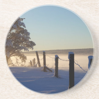 Winter Morning St Joseph Island Coaster