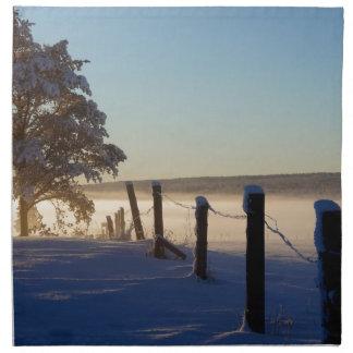 Winter Morning St Joseph Island Napkin