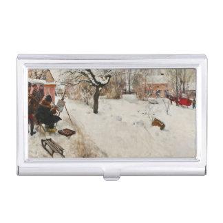 Winter Motif Åsögatan Business Card Holder