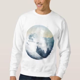 Winter Mountain Ski Slope, Men's Sweatshirt
