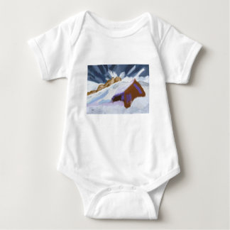 Winter Mountains Art Baby Bodysuit