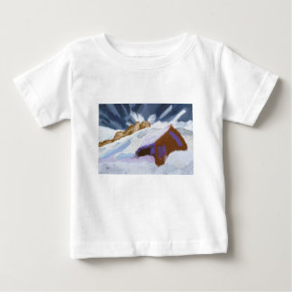 Winter Mountains Art Baby T-Shirt