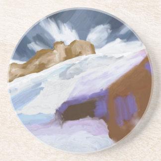 Winter Mountains Art Coaster