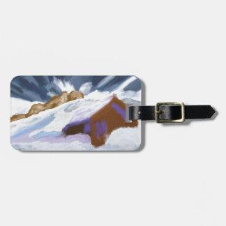 Winter Mountains Art Luggage Tag