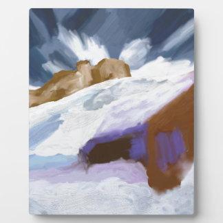 Winter Mountains Art Plaque