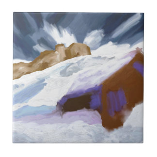 Winter Mountains Art Tile