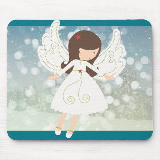 Winter mouse pad with angel