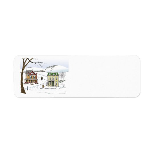 Winter Neighbourhood Label Return Address Label