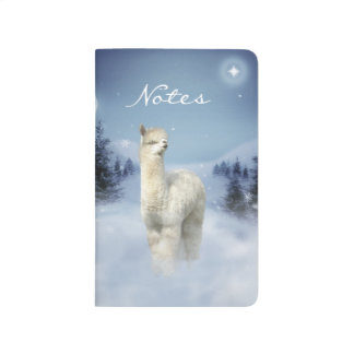 Winter Night Alpaca Pocket Journal