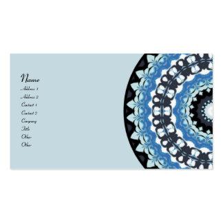 Winter Night Kaleidoscope Business Card Templates