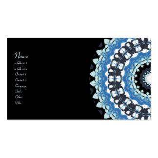 Winter Night Kaleidoscope Business Cards