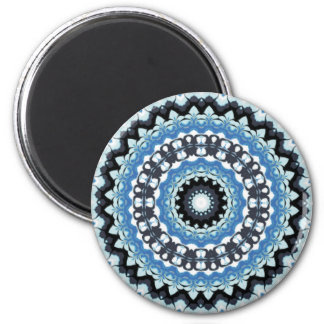Winter Night Kaleidoscope Fridge Magnet