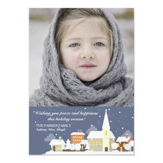 Winter Night Photo Holiday Card