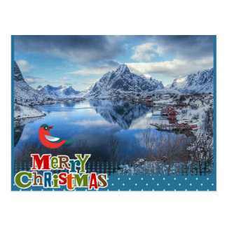 Winter Norway Christmas postcard