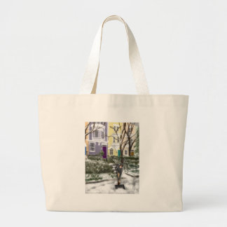 Winter on Capitol Hill Large Tote Bag