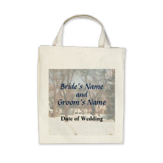 Winter on my Street Wedding Products Canvas Bags
