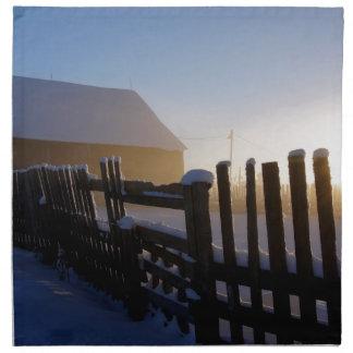 Winter on the farm napkin