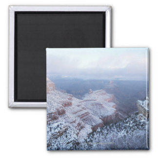Winter on the South Rim, Grand Canyon National Square Magnet