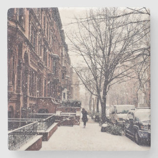 Winter On The Upper West Side Stone Coaster