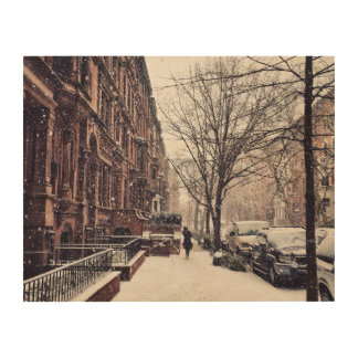 Winter On The Upper West Side Wood Print