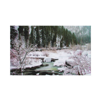 Winter on the Wenatchee River Canvas Print