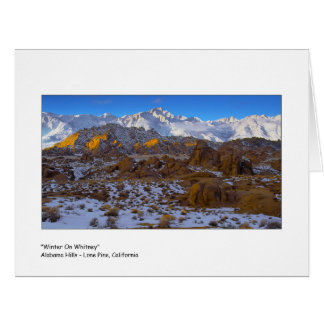 """"""" Winter On Whitney """" Card"""