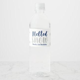 Winter Onederland, 1st Birthday Water Bottle Label
