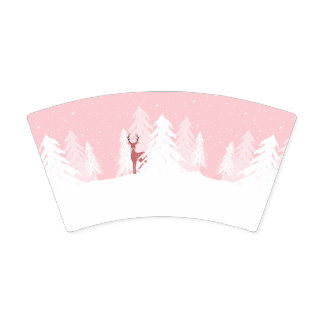 Winter Onederland Birthday Party Pink Paper Cup