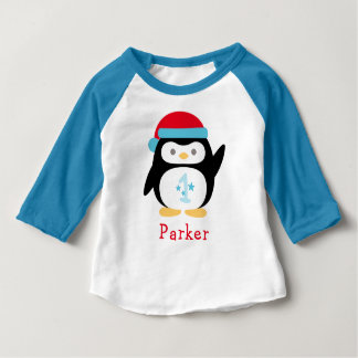 Winter ONEderland Birthday | Penguin Baby T-Shirt