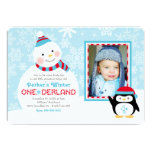 Winter ONEderland Birthday | Snowman and Penguin Custom Announcement