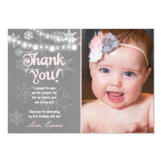 Winter ONEderland Birthday Thank you Card 13 Cm X 18 Cm Invitation Card